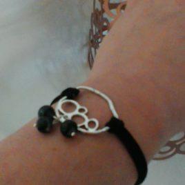 Bracelet estampe multicercles argente
