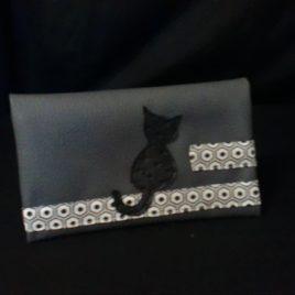 """Porte carte ou chéquier animaux """"le chat"""""""