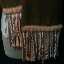 Doux et chaud pour cette écharpe polaire et fils de laine 06