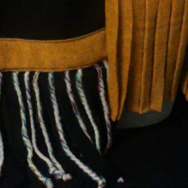 Doux et chaud pour cette écharpe polaire et fils de laine 05