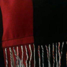 Doux et chaud pour cette écharpe polaire et fils de laine04