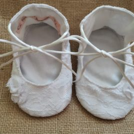 "Mes jolis chaussons  ""Cérémonie"" style ballerines"