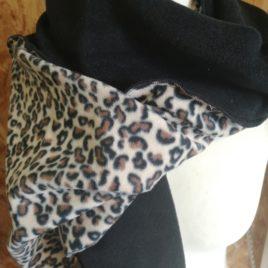 Echarpe léopard oversize