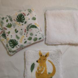 Lingettes lavables x4 kangourou