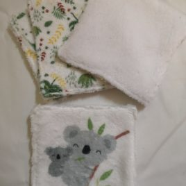 Lingettes lavables x4 koala