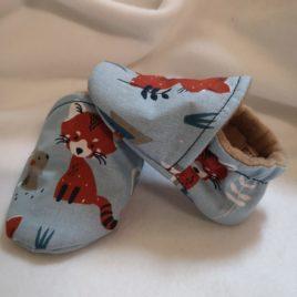 Mes 1er chaussons en coton renard
