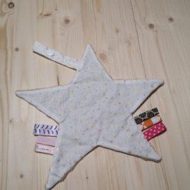 Mon doudou étoile imprimé étoile doré/blanc